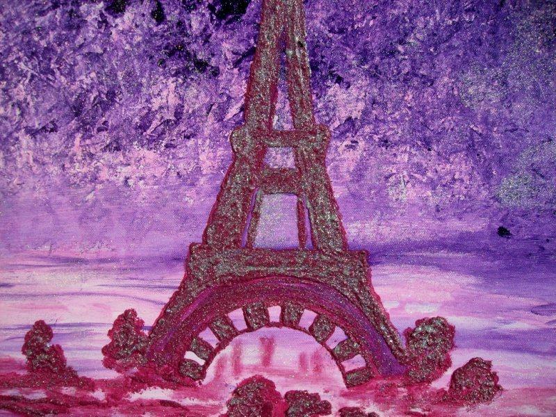 Kleinesbild - Acrylbild PARIS PARIS Acrylmalerei für Verliebte Geschenk zum Valentinstag