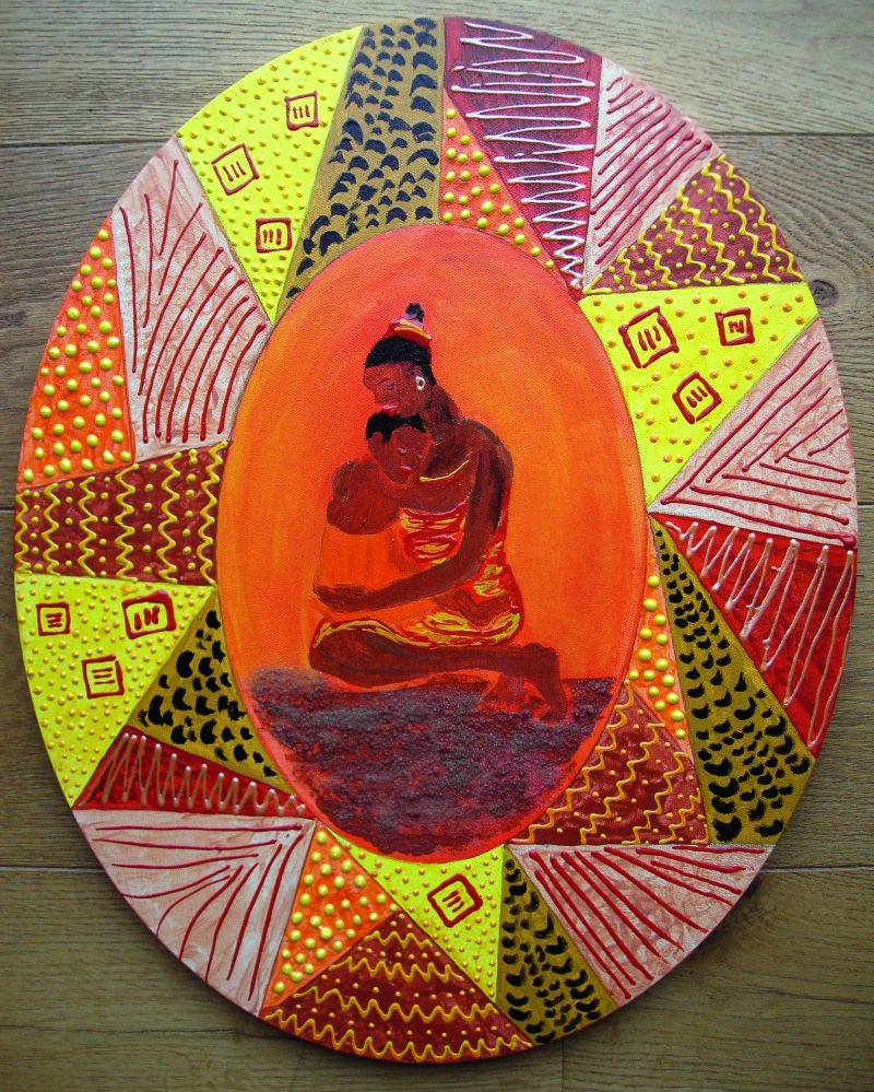 - Acrylbild Usalama Acrylmalerei Gemälde Wanddekoration Geschenk zum Muttertag Bild  - Acrylbild Usalama Acrylmalerei Gemälde Wanddekoration Geschenk zum Muttertag Bild