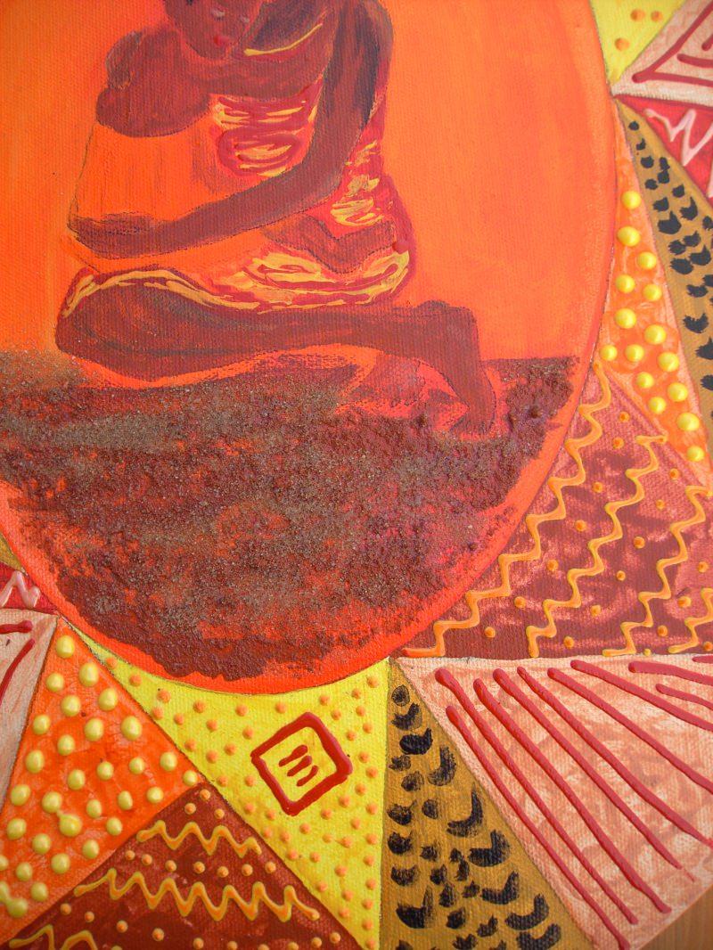 Kleinesbild - Acrylbild Usalama Acrylmalerei Gemälde Wanddekoration Geschenk zum Muttertag Bild