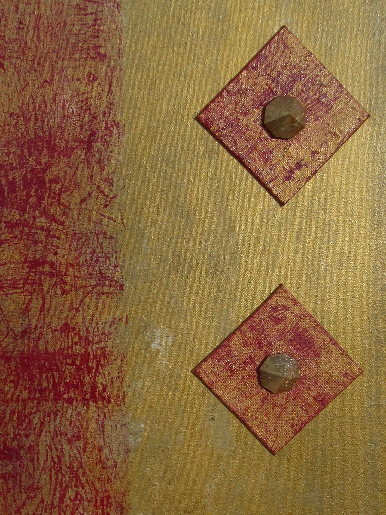 Kleinesbild - Acrylbild Rubinrot Acrylmalerei Gemälde Wanddeko abstrakte Kunst  Malerei  Bild handgemalt Unikat direkt vom Künstler