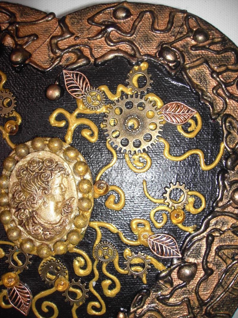 Kleinesbild - Herz Herzbild Valentinstag Geschenk Muttertag Acrylbild Collage Bild auf Keilrahmen Gothic Steampunk