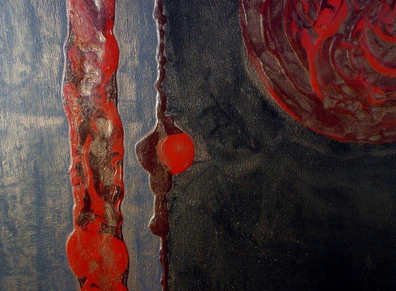Kleinesbild - Acrylbild BLUTMONDE Acrylmalerei Gemälde Wanddeko abstrakte Kunst  Malerei  abstrakte Monde Bild