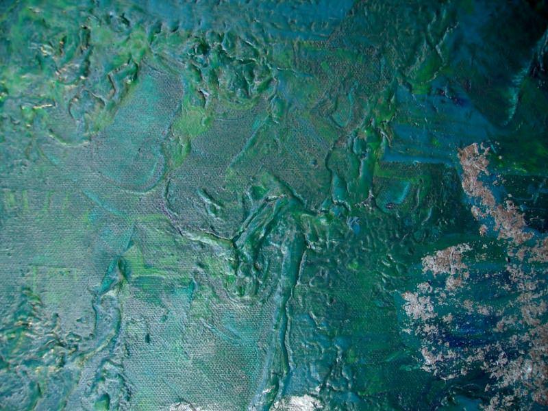 Kleinesbild - Acrylbild Silbergrün Acrylmalerei Gemälde abstrakte Kunst Leinwand grünes Bild Malerei