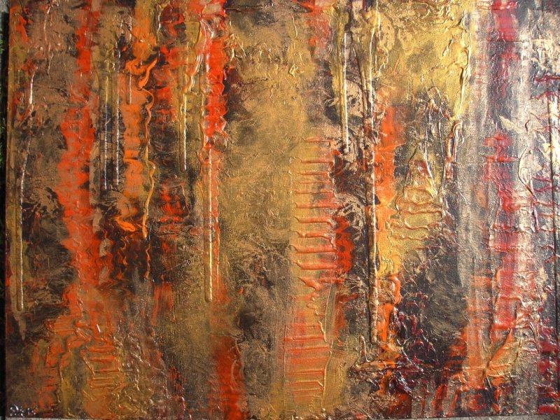 - Acrylbild LAVA UND GOLD Acrylmalerei Gemälde abstrakte Kunst Wanddekoration goldenes Bild - Acrylbild LAVA UND GOLD Acrylmalerei Gemälde abstrakte Kunst Wanddekoration goldenes Bild