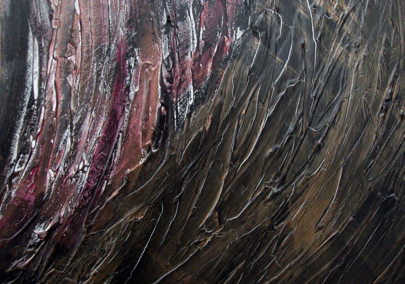 Kleinesbild - Acrylbild KUPFERWIRBEL Acrylmalerei Gemälde abstrakte Malerei Wanddekoration Bild  Kunst direkt vom Künstler Malerei kupferfarbenes Bild auf Keilrahmen Unikat