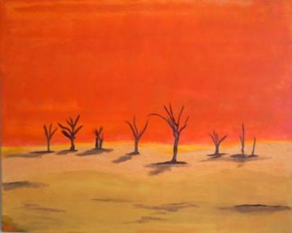 - Acrylbild NAMIB Acrylmalerei Gemälde Wanddeko abstrakte Kunst naive Malerei  Wüste oranges Gemälde Landschaft - Acrylbild NAMIB Acrylmalerei Gemälde Wanddeko abstrakte Kunst naive Malerei  Wüste oranges Gemälde Landschaft