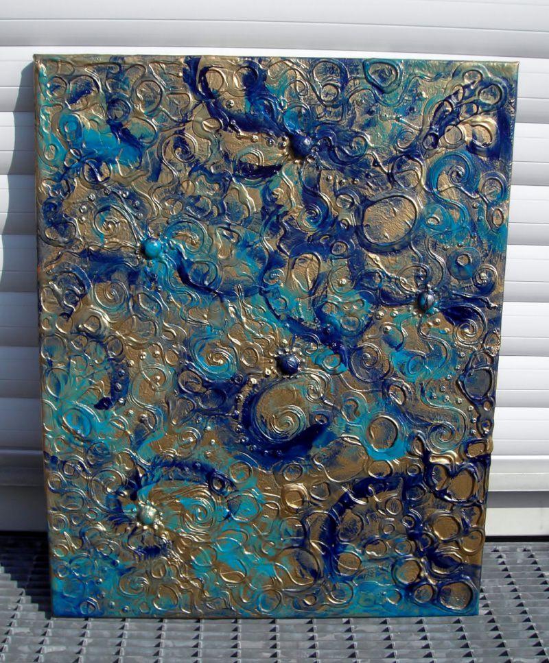 Kleinesbild - Acrylbild WASSERSPIELE Acrylmalerei Kunst Deko Muttertagsgeschenk Geburtstagsgeschenk abstrakte Malerei