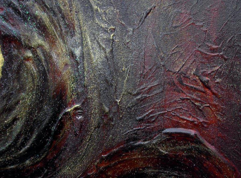 Kleinesbild - Acrylbild GOLDUNIVERSUM Acrylmalerei Gemälde abstrakte Malerei Wanddekoration  Handarbeit Unikat signiert