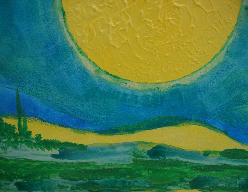 Kleinesbild - Acrylbild SUN VALLEY Acrylmalerei Gemälde abstrakte Kunst Wanddekoration abstrakte Landschaft Gemälde Malerei Handarbeit Handsigniert