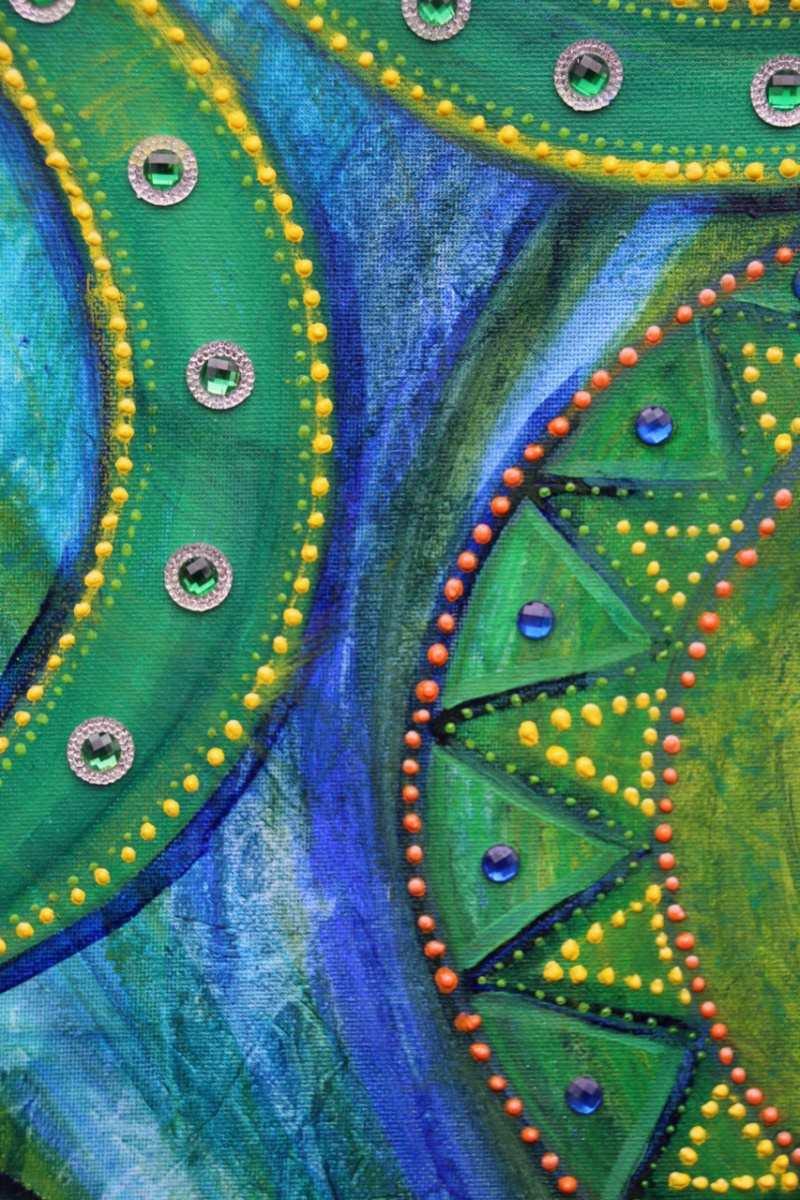 Kleinesbild - Acrylbild GLITZERBÖGEN Acrylmalerei Kunst Deko Geschenk abstrakte Malerei abstrakte Kunst Acrylmalerei