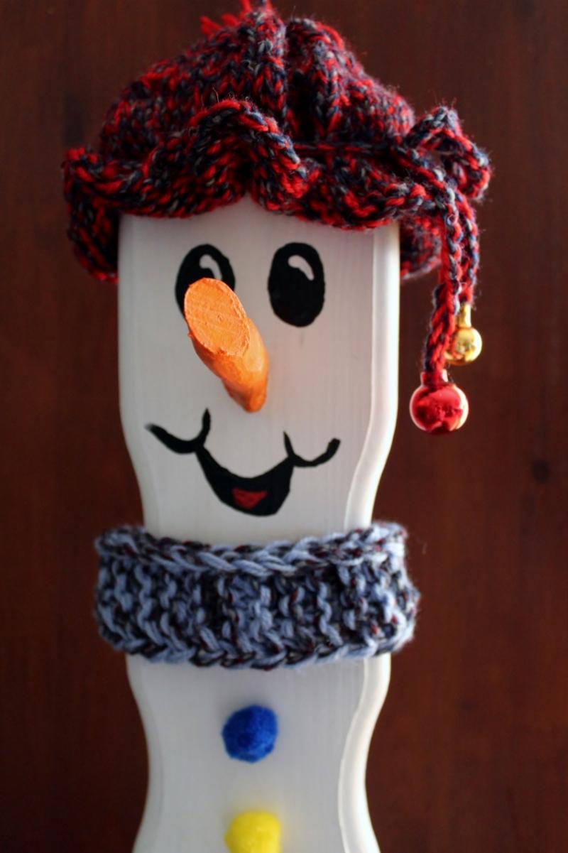 Kleinesbild - Schneemann Weihnachtsdeko SCOTTY SNOWMAN Figur Herbstdeko Künstlerfigur Winterdeko Geschenk