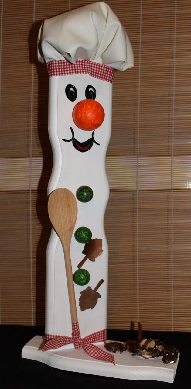 - Schneemann COOKIE SNOWMAN Figur Herbstdeko Künstlerfigur Winterdeko Geschenk für Köche - Schneemann COOKIE SNOWMAN Figur Herbstdeko Künstlerfigur Winterdeko Geschenk für Köche