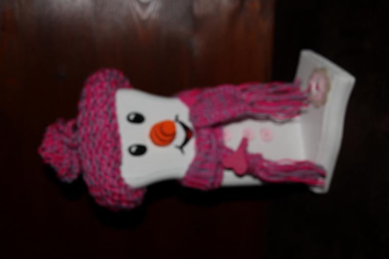 Kleinesbild - Schneemann Deko LITTLE SNOWEY Figur Herbstdeko Künstlerfigur Winterdeko Geschenk Gelfgeschenk