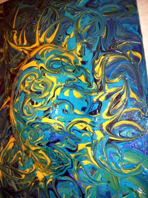 Kleinesbild - Ostergeschenk OSTERWASSER Wandskulptur abstraktes Dekoei Künstler-Ei Dekofigur abstrakte Kunst