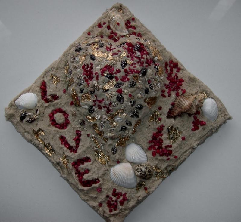 - Muschelbild LOVE Collage Geschenk zu Valentinstag Muttertag Herz Herzbild Muscheln   - Muschelbild LOVE Collage Geschenk zu Valentinstag Muttertag Herz Herzbild Muscheln