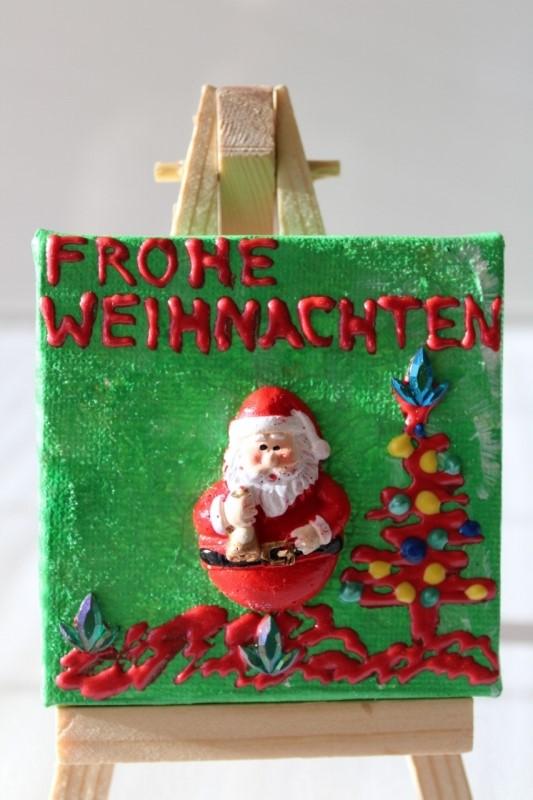 - Minibild FROHE WEIHNACHTEN Nikolaus Tischdeko Minibild Collage Deko Weihnachtsgeschenk  Adventskalenderfüllung Weihnachtsmann - Minibild FROHE WEIHNACHTEN Nikolaus Tischdeko Minibild Collage Deko Weihnachtsgeschenk  Adventskalenderfüllung Weihnachtsmann