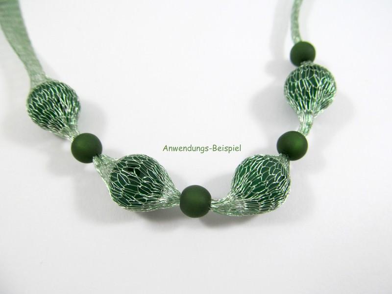 Kleinesbild - 1 Meter Gewebeband / Mesh, 6mm, Farbe hellgrün