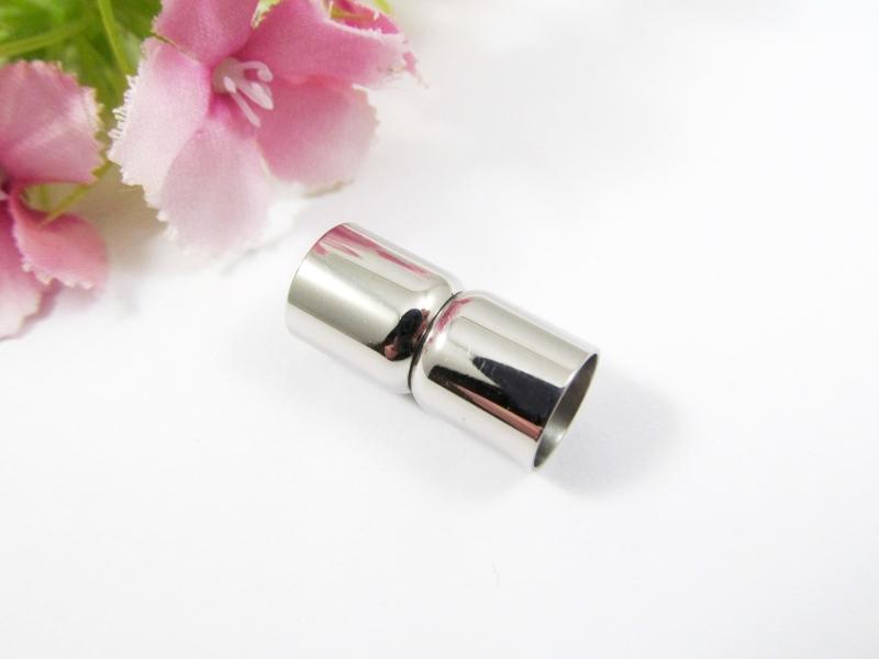 - 1 Edelstahl Magnetverschluss für 8mm Bänder, Magnetschließe - 1 Edelstahl Magnetverschluss für 8mm Bänder, Magnetschließe