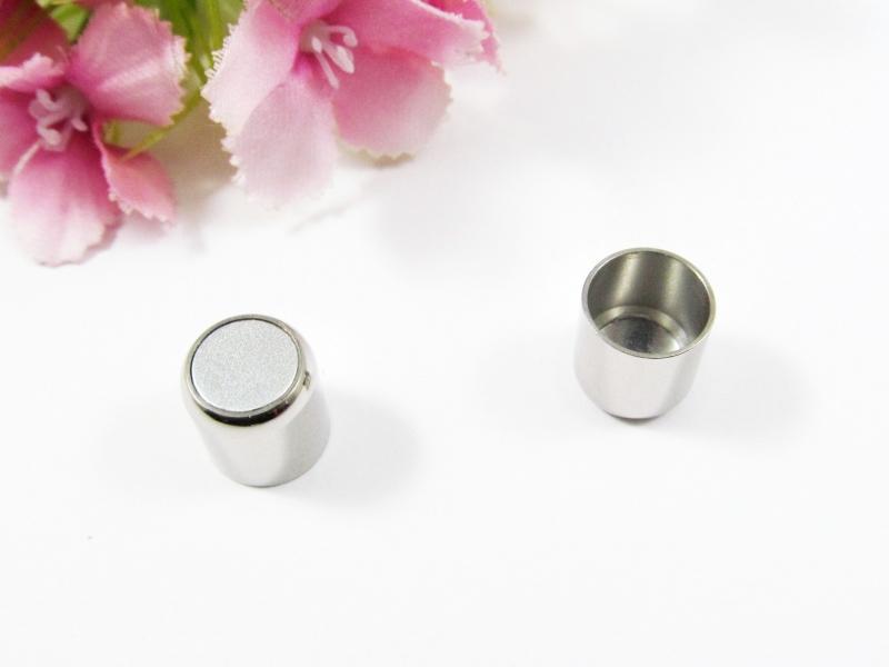 Kleinesbild - 1 Edelstahl Magnetverschluss für 8mm Bänder, Magnetschließe