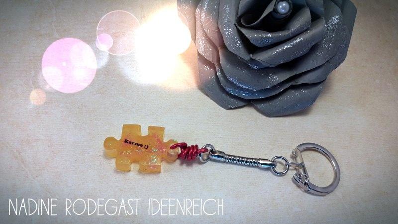 - Schlüsselanhänger mit Spruch, Clip, Glitzer, Taschenbaumler, Geschenk  - Schlüsselanhänger mit Spruch, Clip, Glitzer, Taschenbaumler, Geschenk