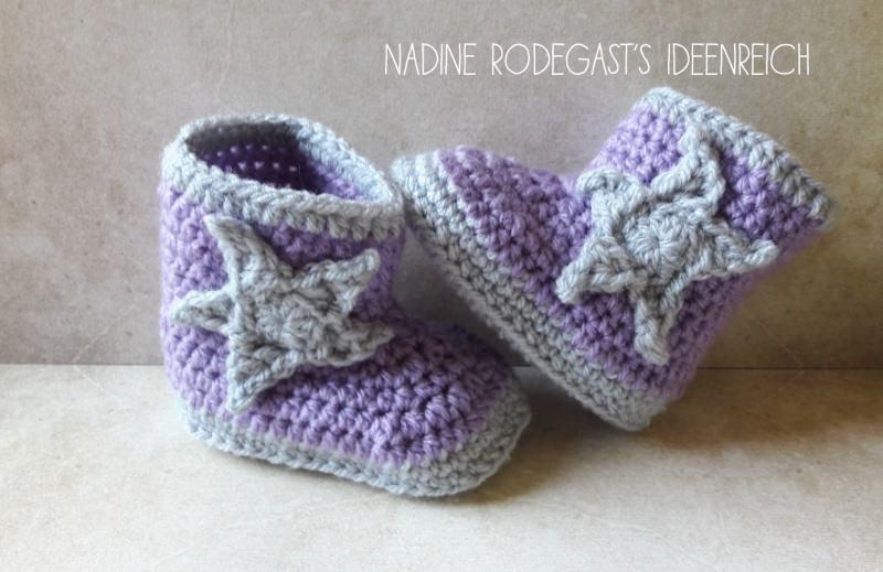 Babyartikel : - Babyschuhe Booties - gehäkelt Stiefel Babyschühchen ...