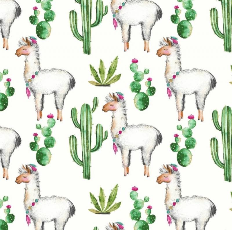 - 50cm Baumwollstoff 100% Baumwolle Meterware Kinderstoff Hergestellt nach ÖkoTex100 Lama Alpaka Kaktus weiß - 50cm Baumwollstoff 100% Baumwolle Meterware Kinderstoff Hergestellt nach ÖkoTex100 Lama Alpaka Kaktus weiß