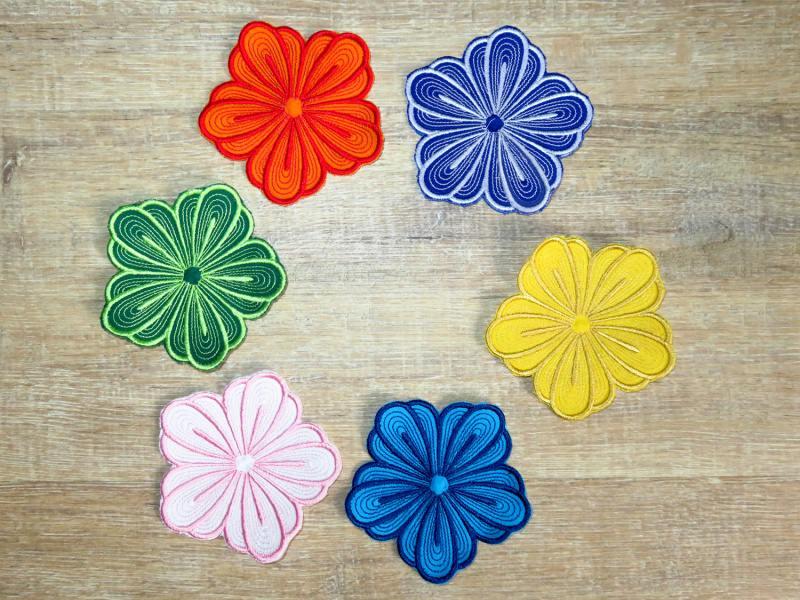 - Applikation Stickbild Bügelflicken Aufnäher Bügelbild Hosenflicken Knieflicken Verzierung Blume Stickblume Farbwahl 10cm - Applikation Stickbild Bügelflicken Aufnäher Bügelbild Hosenflicken Knieflicken Verzierung Blume Stickblume Farbwahl 10cm