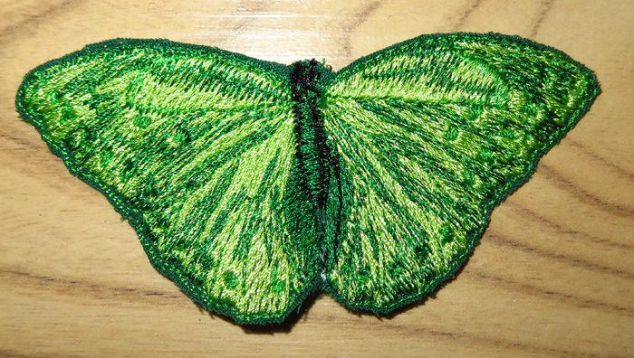 Kleinesbild - Applikation Stickbild Bügelflicken Aufnäher Bügelbild Hosenflicken Knieflicken Verzierung Schmetterling Butterfly Farbwahl 9cm