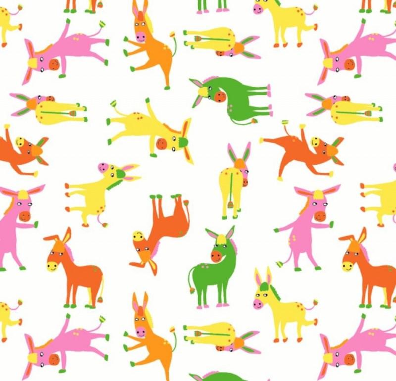 - 50cm Single Jersey Stoff Meterware Kinderstoff / Bekleidungsstoff Hergestellt nach ÖkoTex100 Esel rosa orange gelb grün - 50cm Single Jersey Stoff Meterware Kinderstoff / Bekleidungsstoff Hergestellt nach ÖkoTex100 Esel rosa orange gelb grün
