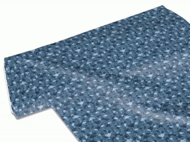 Kleinesbild - 50cm Single Jersey Stoff Meterware Kinderstoff / Bekleidungsstoff Hergestellt nach ÖkoTex100 Flamingos blau