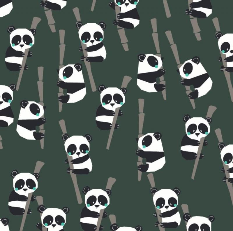 - 50cm BIO Baumwollstoff 100% Baumwolle Meterware Kinderstoff Hergestellt nach GOTS Richtlinien Pandas auf Bambus - 50cm BIO Baumwollstoff 100% Baumwolle Meterware Kinderstoff Hergestellt nach GOTS Richtlinien Pandas auf Bambus