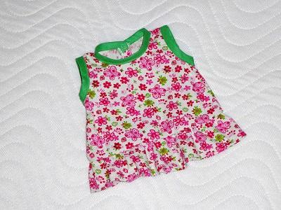 Kleinesbild - Handgemachte Puppenkleidung, Sommerkleid, Baumwollfeincord ca. 36-38cm