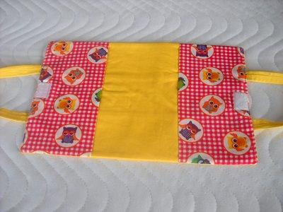 Kleinesbild - Handgemachte Puppen Windeltasche Wickeltasche Baumwolle gelb Eulen
