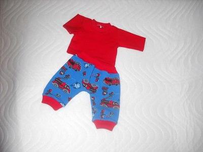 - 2 tlg. Puppenkleider Set Hose & Shirt für Jungs ca.36-38 cm - 2 tlg. Puppenkleider Set Hose & Shirt für Jungs ca.36-38 cm
