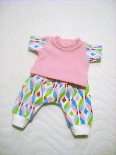 - Handgemachte Puppenkleider Set Pumphose & Shirt Weichkörper Puppen  ca. 46-48 cm  - Handgemachte Puppenkleider Set Pumphose & Shirt Weichkörper Puppen  ca. 46-48 cm