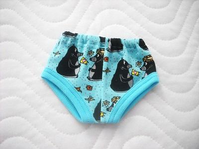 Kleinesbild - Handgemachte Unterwäsche für Puppen 2 Slip, Unterhosen Jungs ca. 43 cm