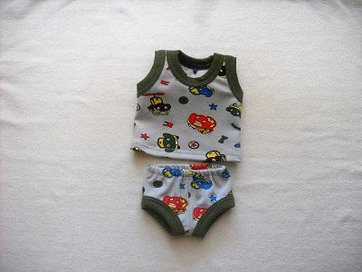 - Handgemachte Unterwäsche Set Hemd & Hose Jungs ca. 43 cm  - Handgemachte Unterwäsche Set Hemd & Hose Jungs ca. 43 cm