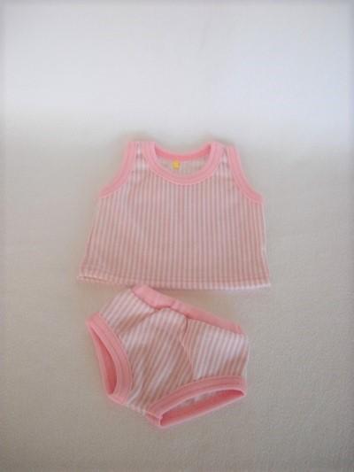 - Handgemachte Puppenkleidung Unterwäsche Hemd & Slip Unterhose ca. 43 cm  - Handgemachte Puppenkleidung Unterwäsche Hemd & Slip Unterhose ca. 43 cm