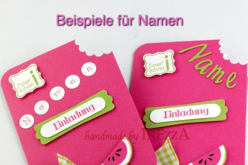 Kleinesbild - Einladungskarten 4-er Set Eis am Stiel Erdbeere für den Kindergeburtstag mit echtem Holzstiel