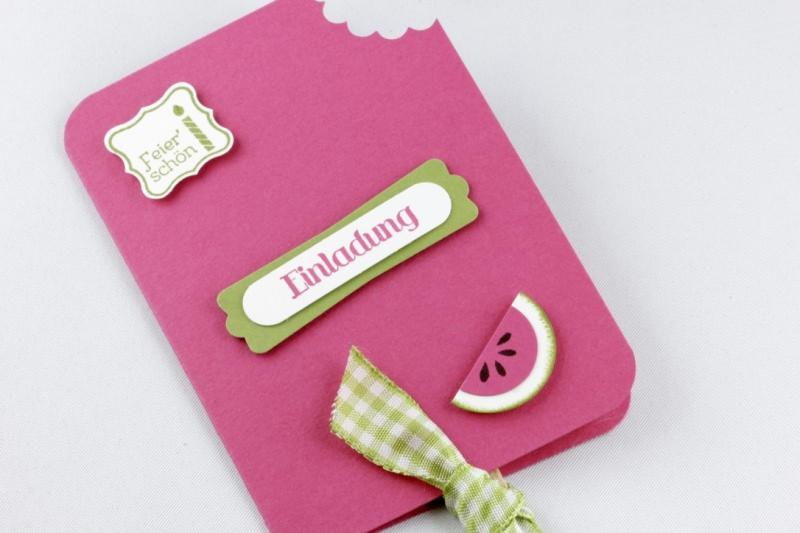 - Einladungskarten - Eiskarten - Melone - 4-er Set - Einladungskarten - Eiskarten - Melone - 4-er Set
