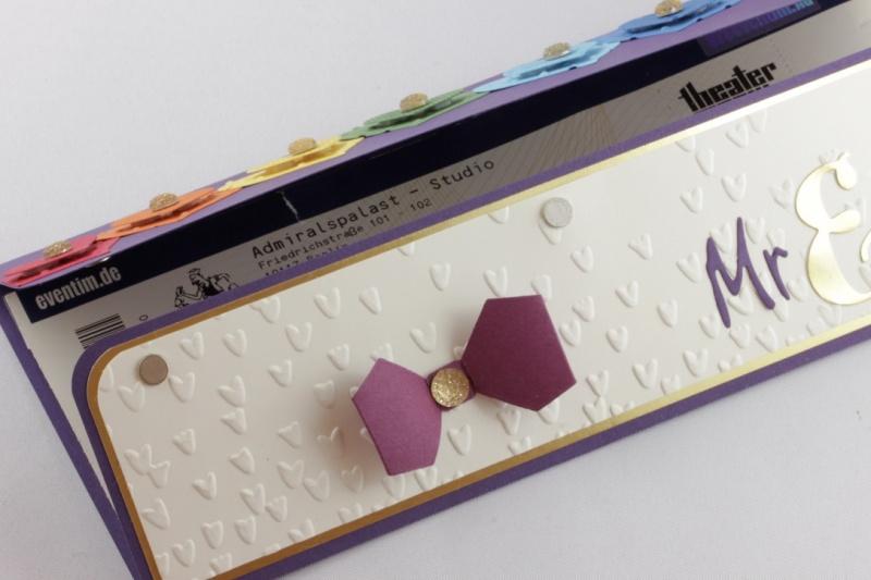Kleinesbild - Geschenkverpackung für Konzertkarte zur Hochzeit ♥ Mr. & Mr. ♥ Homo-Ehe