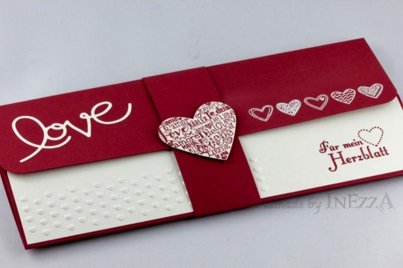- Geschenkverpackung für Konzertkarte ♥ LOVE ♥ Für mein Herzblatt dunkelrot weiss - Geschenkverpackung für Konzertkarte ♥ LOVE ♥ Für mein Herzblatt dunkelrot weiss