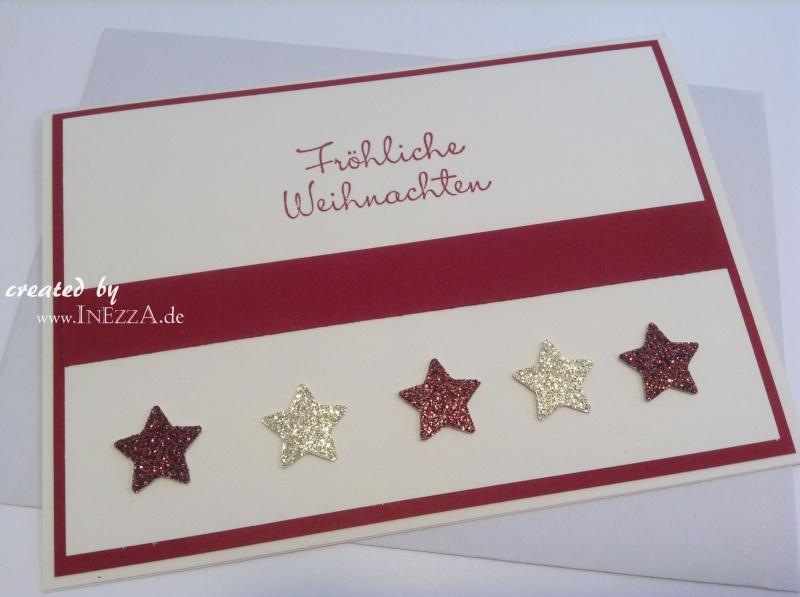 Kleinesbild - Weihnachtsgrußkarte modern ☆ Fröhliche Weihnachten ☆ rot weiss