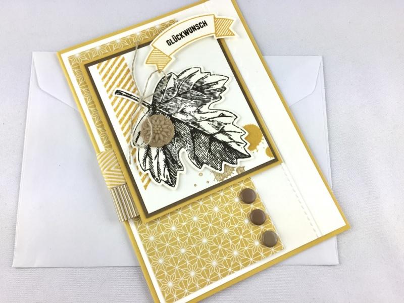 Kleinesbild - Grußkarte zum Geburtstag Handarbeit Herbst des Lebens