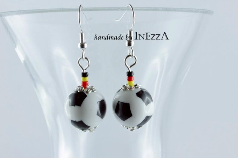 - 1 Paar Ohrringe Fan-Schmuck Fußballschmuck Deutschland - 1 Paar Ohrringe Fan-Schmuck Fußballschmuck Deutschland