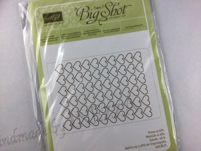 - Prägeform Herzen NEU Stampin Up Embossing Folder