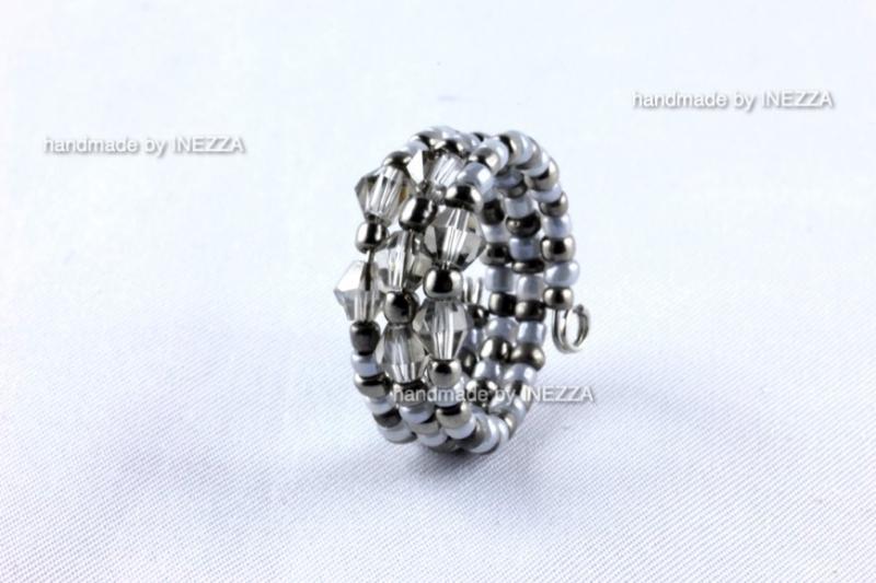 Kleinesbild - Spiralring Einheitsgröße Memory Wire Grau Ringbreite 10 mm