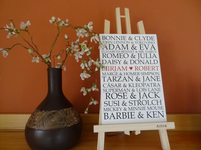 - Romantisches Schild mit berühmten Liebespaaren, auch dein Name kann dort stehen - Romantisches Schild mit berühmten Liebespaaren, auch dein Name kann dort stehen