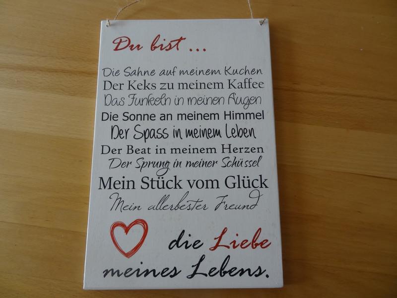 Kleinesbild - romantische Liebeserklärung auf einem Holzschild