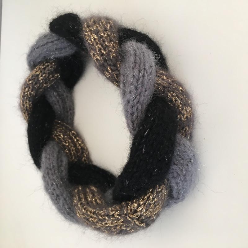 Kleinesbild - DAWN -  cooles, geflochtenes Stirnband, 3-farbig